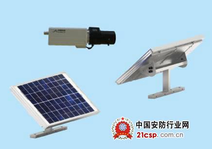 它集太阳能发电,蓄电池储电